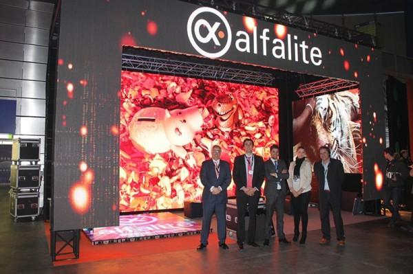 Equipo Alfalite en el Stand en la Feria Afial 2014 en Madrid