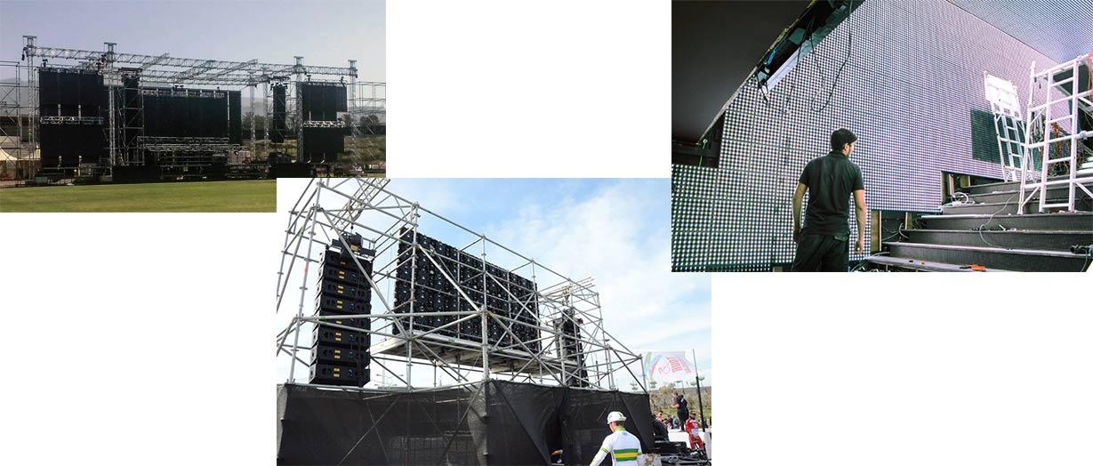 instalación pantallas led